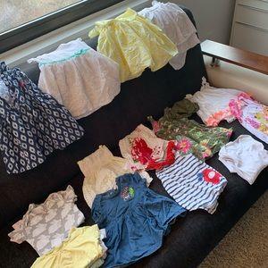 Summer bundle of 20 for babygirl 12 months